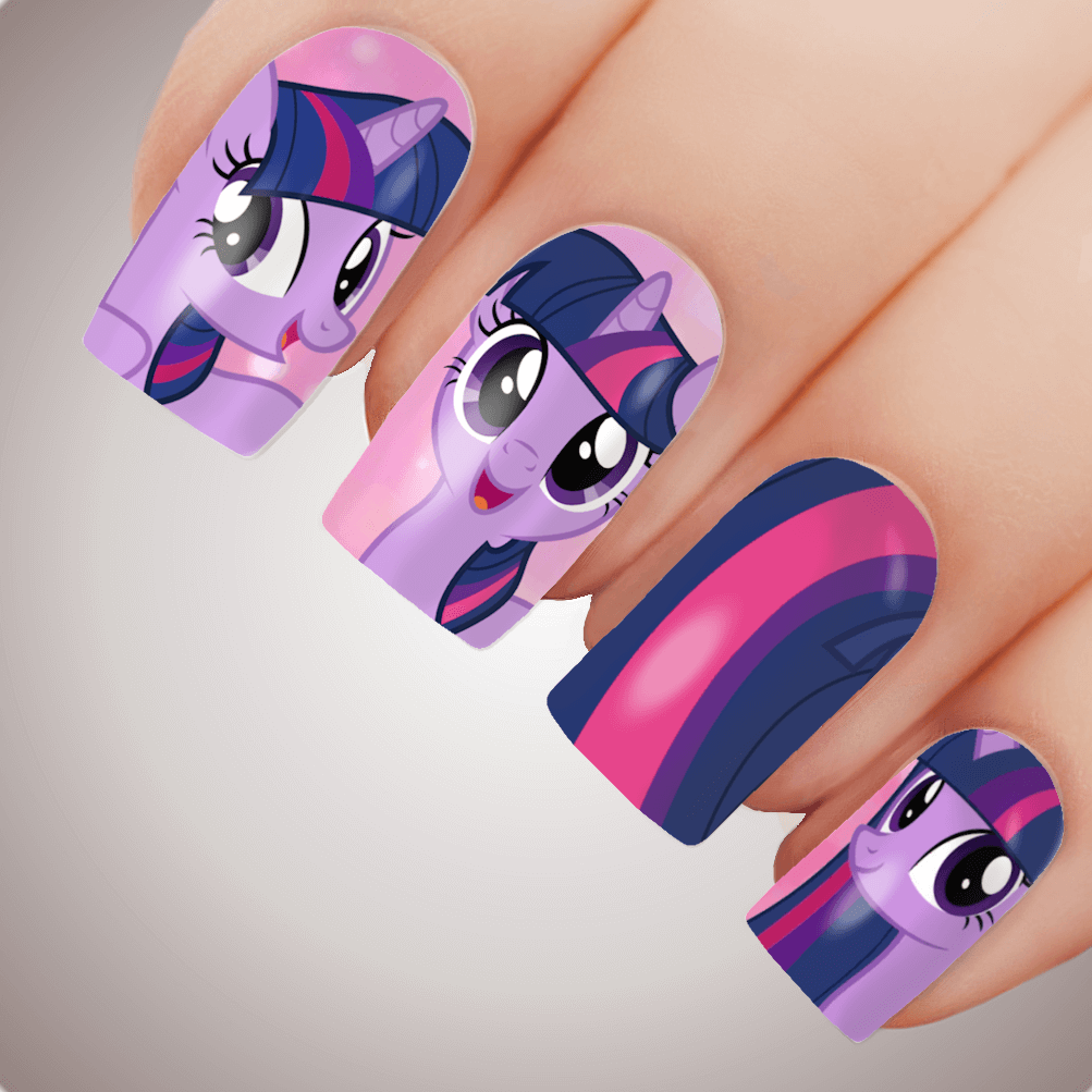 Twilight Sparkle My Little Pony Nail Art Decal Water Transfer Slider