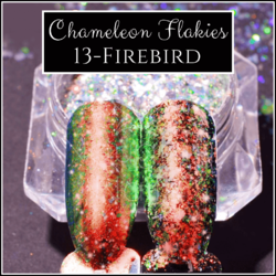 CHAMELEON FLAKIES - Firebird - Duochrome Shifting Powder Flake Pigment Nail Art