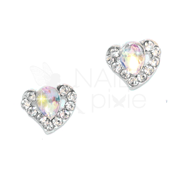 NAILpixie Aura Charm Crystal AB Heart Alloy Jewellery Decoration Nail Jewelry