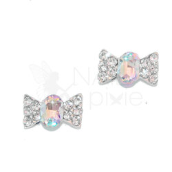 NAILpixie Aura Charm Crystal AB Bow Tie Alloy Jewellery Decoration Nail Jewelry