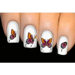 Ethereal Pink - BUTTERFLY Nail Art Water Tattoo Transfer Decal Sticker #1000