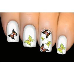 Moonlight - BUTTERFLY Nail Art Water Tattoo Transfer Decal Sticker #402