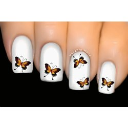 Earthly Love - BUTTERFLY Nail Art Water Tattoo Transfer Decal Sticker #404