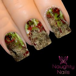 ZOMBIFY My Nails Water Transfer Nail Decal Sticker Art Tattoo Zombie