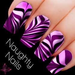 SWEET Water Marble Nail Decal DIY Nail Tattoo Transfer Holo