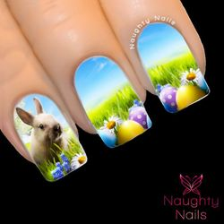 EASTER BUNNY DREAM Full Cover Nail Water Transfer Decal Sticker Art Tattoo