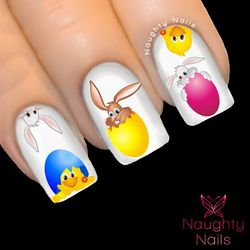 EASTER HATCHLINGS Nail Water Transfer Decal Sticker Art Tattoo