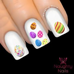 EASTER EGGS Nail Water Transfer Decal Sticker Art Tattoo
