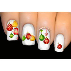 Xmas Baubles Christmas Nail Decal Water Transfer Sticker Tattoo