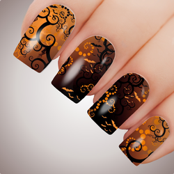 TWISTED NIGHTMARE - Halloween Horror Full Nail Art Decal Water Transfer Tattoo