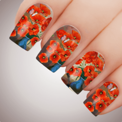 SWEET POPPY Anzac Rememberance Day Nail Decal Art Water Slider Transfer