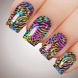 Rainbow Animal - ULTIMATE COLLECTION - Full Nail Decal Water Transfer Tattoo