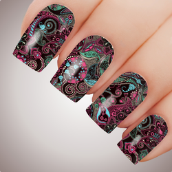 Tribal Fusion - ULTIMATE COLLECTION - Full Nail Decal Water Transfer Tattoo