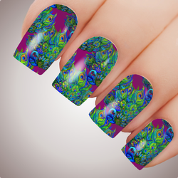 Royal Peacock - ULTIMATE COLLECTION - Full Nail Decal Water Transfer Tattoo