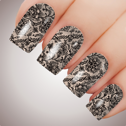 Vintage Lace - ULTIMATE COLLECTION - Full Nail Decal Water Transfer Tattoo