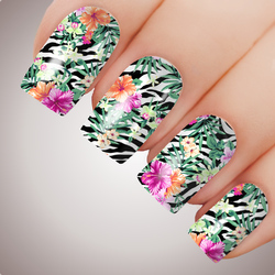 Tropical Hibiscus - ULTIMATE COLLECTION - Full Nail Art Decal Water Transfer Tattoo