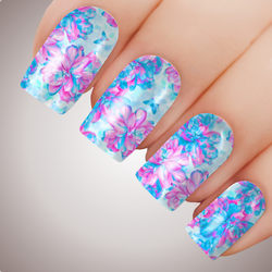 Valley Flower Twilight - ULTIMATE COLLECTION - Full Nail Art Decal Water Transfer Tattoo