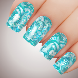 Ocean Mandala - ULTIMATE COLLECTION - Full Nail Art Decal Water Transfer Tattoo