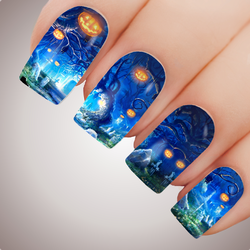 ENCHANTED CRYPT - Halloween Graveyard Full Nail Art Decal Water Transfer Tattoo