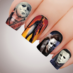 MICHAEL MYERS Halloween Full Cover Nail Decal Art Water Slider Sticker