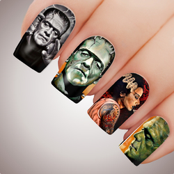 FRANKENSTEIN Halloween Full Cover Nail Decal Art Water Slider Sticker