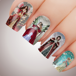 CHRISTMAS FAIRY Xmas Angel Nail Decal Xmas Water Transfer Sticker Tattoo