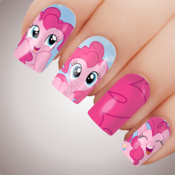 PINKIE PIE My Little Pony Nail Art Decal Water Transfer Slider Sticker