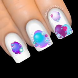 Enchanted FLORAL EGGS Easter Egg Nail Water Transfer Decal Sticker Art Slider