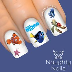 50 x FINDING NEMO Dory Disney Nail Water Transfer Decal Sticker Art Tattoo