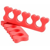 ♥ Exotic Hearts ♥ Pair of EVA Nail Polish Toe Separator Pedicure - TANGERINE